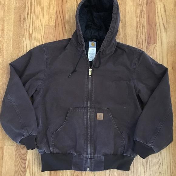 c0247a9d56 Carhartt Jackets & Coats   Mens Vintage Hooded Work Jacket   Poshmark